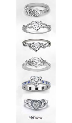 A wide range of settings with sidestones for diamond engagement rings and other engagement rings, using certified loose diamonds. Cute Engagement Rings, Heart Shaped Engagement Rings, Diamond Engagement Rings, Heart Jewelry, Jewelry Rings, Jewelery, Heart Rings, Wedding Ring Styles, Wedding Rings