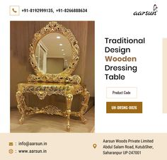 Shop our Extremely stylish and designer Dressing Tables. Our dressing tables will surely add charm to your bedroom or wherever you place it.