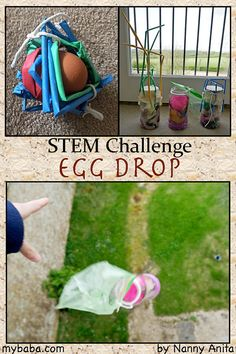 egg drop challenge: Can you build a container to protect your egg from the fall? Stem Activity for children and teens. Source by lwiggers. Camping Activities For Kids, Steam Activities, Youth Activities, Team Building Activities, Autumn Activities, Youth Games, Therapy Activities, Egg Drop Project, Challenge For Teens