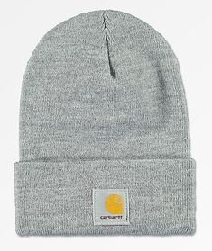 3185667562cbe5 Get in on the Carhartt game with this classic heather grey Watch beanie  from Carhartt. A classic color you can wear with just about anything from  an all ...