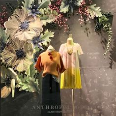 Anthropologie Window Quilling - Burlington, MassachusettsYou can find Window displays and more on our website. Spring Window Display, Fashion Window Display, Window Display Retail, Window Display Design, Retail Displays, Shop Displays, Boutique Window Displays, Visual Merchandising Displays, Visual Display