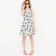 J. Crew #anchor dress - my obsession is #Nautical #anchors
