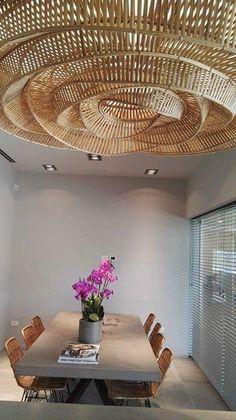 Interior Columns, Lobby Interior, Interior Architecture, Interior Design, Driftwood Chandelier, Chandelier Art, Cool Lighting, Lighting Design, Bamboo Lamp