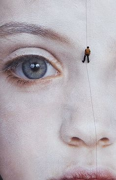 Detail, 'The Last Child' (2008) by Austrian-Irish artist Gottfried Helnwein (b.1948). Digital print. Installation in the city of Waterford, Ireland. via CosmoBuzz