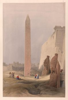 Luxor. Dec. 1st, 1838.  [Obelisk at Luxor.] by David Roberts