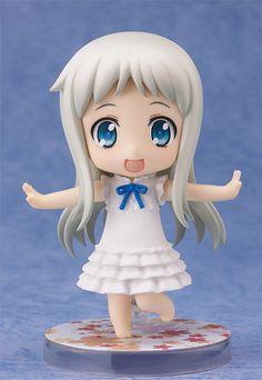 Menma's wish was to become a Nendoroid! From the anime series 'Ano Hi Mita Hana no Namae o Bokutachi wa Mada Shiranai' comes a Nendoroid of Meiko Honma, better known as Menma - the lively, friendly member of the 'Super Peace Busters'. Neko, Chibi, Diamond Comics, Haruhi Suzumiya, Anohana, Parts Of A Flower, Anime Figurines, Anime Toys, Mode Shop