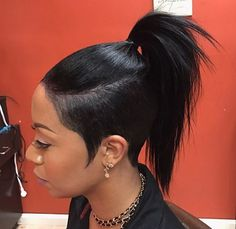 Unique ponytail @istyled_it - https://blackhairinformation.com/hairstyle-gallery/unique-ponytail-istyled_it/
