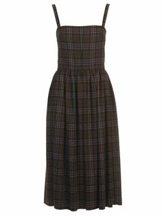 Wool knee length dress with dress.  Can be made with plaid or solid, and looks so warn!