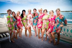Real life Sample 4 - Bridesmaids Robes made From A5  Fabric Pattern - Great Bridesmaid Gifts - Bridal Shower
