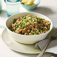 This grain salad looks yummy and nutritious. I like the tang of Dijon vinaigrette.