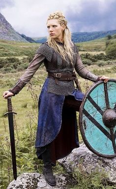 Lagertha from Vikings.. standing your ground like a Viking woman warrior.
