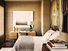 grasscloth, neutral bedroom