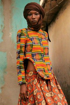 AKAN I JACKET  BY LOZA MALEOMBHO, there women are always with a scarf