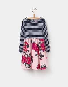Layla Rose Pink Floral Hotchpotch Dress 1-6yr  | Joules UK Joules Uk, New Print, Pink Roses, Toddler Girl, Bell Sleeve Top, Skirts, How To Wear, Clothes, Tops
