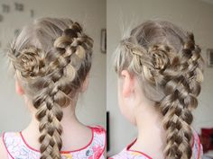 5 strand dutch braid with rosette via Hair Noveau