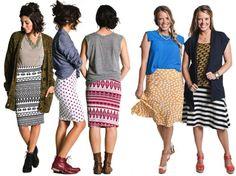 LuLaRoe - the Cassie pencil skirt and the Azure a-line skirt  // lularoe.com