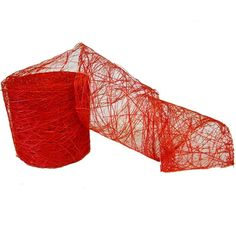 Banana Weave Natural Fiber Ribbon 4 x 10 yards Natural Fiber Color: Red