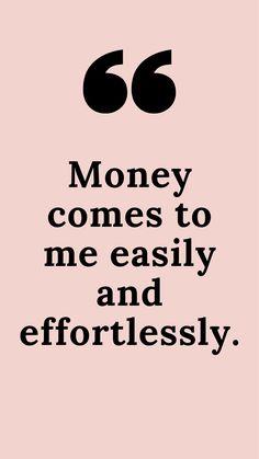 Abundance, wealth Affirmation