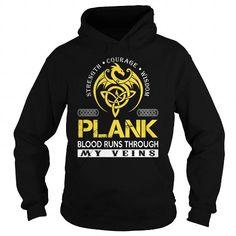 Cool PLANK Blood Runs Through My Veins - Last Name, Surname TShirts T shirts