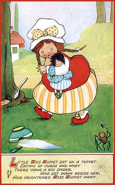Mabel Lucie Attwell's Miss Muffet