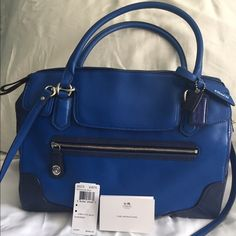 "I just discovered this while shopping on Poshmark: Coach Poppy Satchel - blue  100% AUTHENTIC. Check it out!  Size: Approx 12.5""L x 9""H x 5""D"
