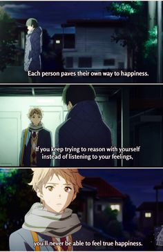 Anime: Kyoukai no Kanata Beyond The Boundary, Ill Be Here, Manga Quotes, Anime Screenshots, Anime People, Sad Quotes, Qoutes, Anime Shows, Me Me Me Anime