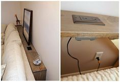 Make Use Of The Space Behind Couch or behind our headboard