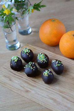 Appelsin chokolade påskeæg fra Bageglad.dk //// Orange chocolate truffles