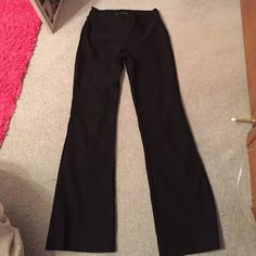 Maurices pull on black dress pants Boot cut dress pants. No button or zipper in front, just pull up. Super stretchy material. The most comfortable pair of dress pants, I've just outgrown them. Worn only once. In excellent condition. Small short Maurices Pants Boot Cut & Flare
