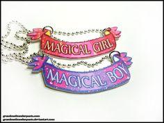 Magical Girl/Boy Necklace by grandmathunderpants on Etsy