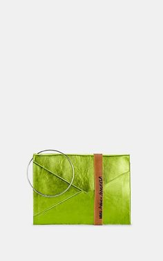 0b429ba859 We Adore: The Metallic Leather Clutch from MM6 Maison Margiela at Barneys New  York Envelope