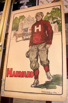 Harvard Football, Letterman Sweaters, Nfl History, University Logo, Boston Strong, Fighting Irish, Grab Bags, Old Skool, Football Players