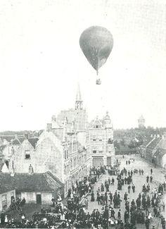 Breda - van Coothplein - 1895 Vintage Photos, Holland, Balloons, Architecture, Places, Outdoor, Memories, Pictures, Historia