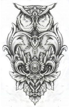 #татуировкасочи #татуажсочи #никитапалагин Сова эскиз