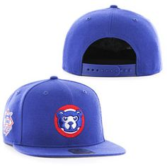 Get this Chicago Cubs Sure Shot Bear Face Snapback Adjustable Cap at WrigleyvilleSports.com