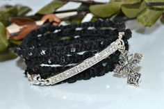 Hey, I found this really awesome Etsy listing at https://www.etsy.com/listing/177378347/black-christian-wrap-bracelet