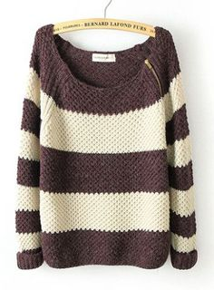 Striped long-sleeved pullover sweater BBCEE