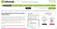 Green Beauty Market: Přírodní kosmetika v Prague Gallery - Prague Mike Shinoda, Name Day, Cultural Events, Cinema Movies, Prague, Names, Culture, Marketing, Green