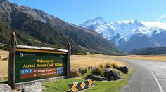 Visit the great outdoors with a visit to Mount Cook National Park - the training ground for Sit Edmund Hillary's Mt Everest Climb. Driving In New Zealand, Mount Cook, Us Images, The Great Outdoors, National Parks, Scenery, Mountains, Explore, Travel