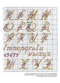 Alphabet for Wedding Cake cross stitch cart