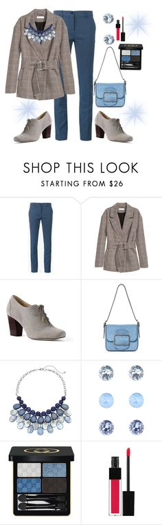 """Dear, I must go to work"" by jfcheney ❤ liked on Polyvore featuring Etro, Lands' End, Tory Burch, Accessorize, Gucci and Edward Bess"