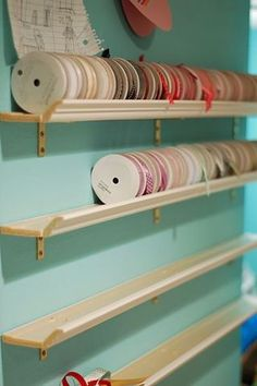 craft room ideas | Craft Room Ideas and Tips / Ribbon-Storage or for jars of but
