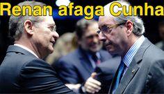 Renan afaga Cunha ➤ http://politica.estadao.com.br/noticias/geral,renan-afaga-cunha-e-temer-e-anuncia-meses-nebulosos,1727822 ②⓪①⑤ ⓪⑦ ①⑨ #BrazilCorruption