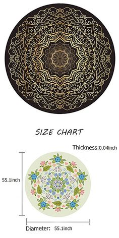 Eumerce YOGA Accessories Printed Natural Rubber Multi Use Round Activity Yoga Mat (Gold water lily, Gold Water, Yoga Accessories, Natural Rubber, Decorative Plates, Lily, Yoga Mats, Activities, Printed, Lilies