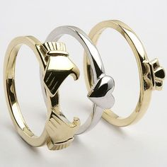 Ok ok last claddagh, ive just always wanted this ring found at http://www.celtic-weddingrings.com/Claddagh-Rings/3-Piece-Gold-Claddagh-P454.html