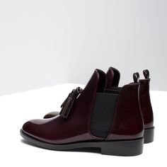 FLAT BOOTIES WITH TASSEL - View all - Shoes - WOMAN | ZARA Ukraine