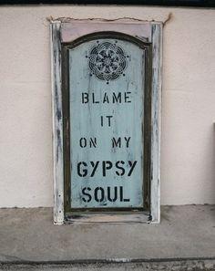 blame it on my gypsy soul Cabinet art by DaisyMaeVintageDecor, $50.00