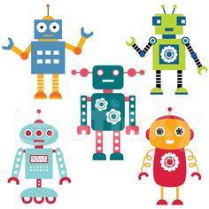 Wall Sticker ROBOTS by Sticky!!!