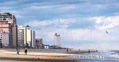 Virginia Beach Oceanfront and resort area.  by cityphotog