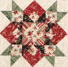 -beautiful! hearts in the stars quilt block This is would be stunning as a one block quilt